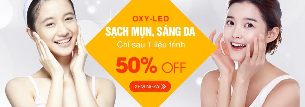 Sale off 50% - Sạch mụn, sáng da chỉ 1 liệu trình điều trị Oxy-led