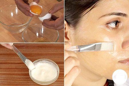 lòng trắng trứng gà trị mụn